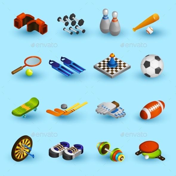 Sport Equipment Icons Set - Sports/Activity Conceptual