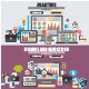 Flat Design Concepts of Finance and Analytics - GraphicRiver Item for Sale