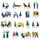Counseling Support Group Flat Icons Set - GraphicRiver Item for Sale