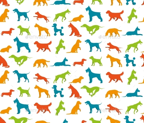 Dog Seamless Pattern - Animals Characters