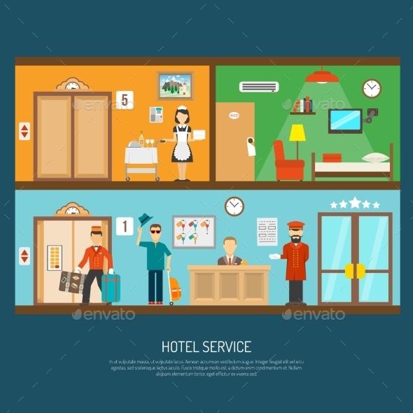 Hotel Service Illustration - Travel Conceptual