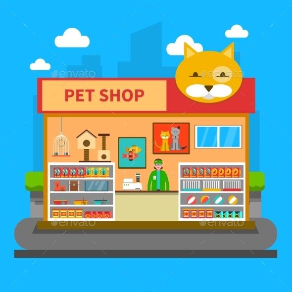 Pets Shop Concept - Retail Commercial / Shopping