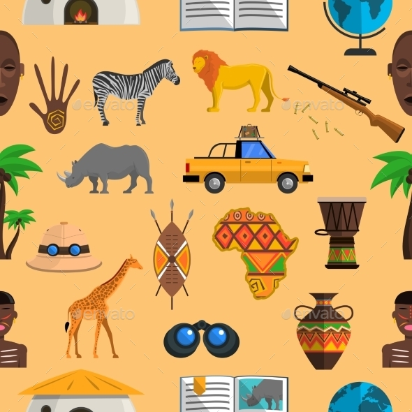 Africa Seamless Pattern - Backgrounds Decorative