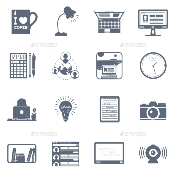 Freelance Icon Set - Man-made objects Objects
