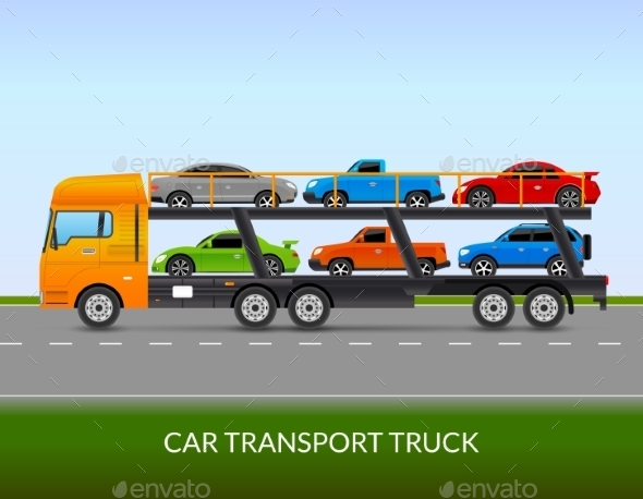 Car Transport Truck Illustration