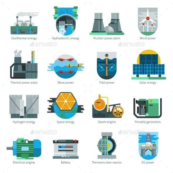 Energy Production Icons - Icons