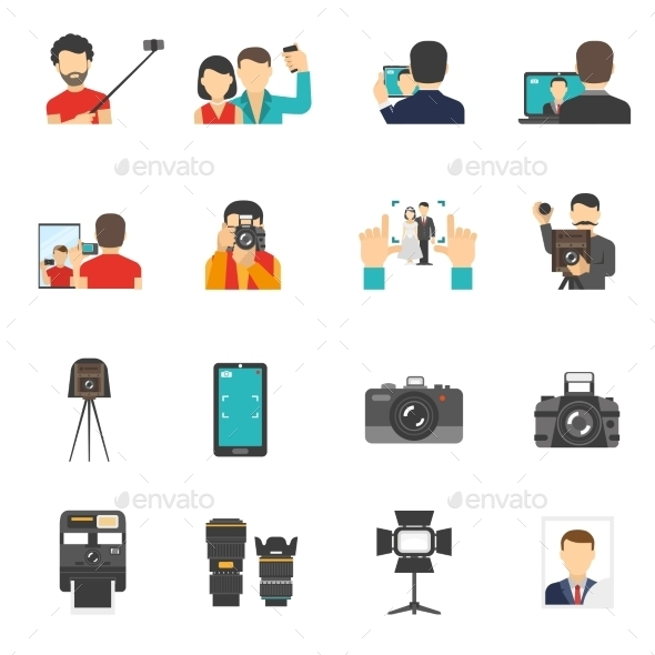Photography Icons Set - Abstract Icons
