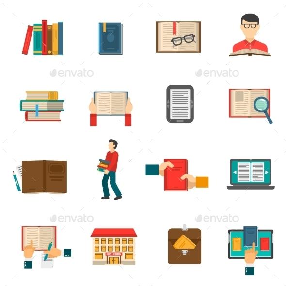 Library Icons Set - Miscellaneous Conceptual