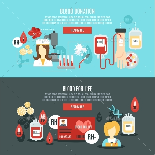 Blood Donor Banner - Health/Medicine Conceptual