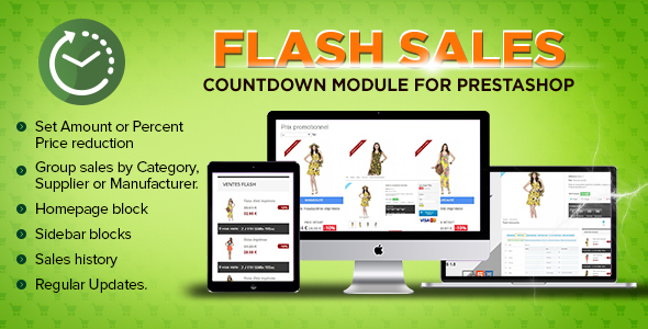Prestashop Flash sales module - Countdown specials - CodeCanyon Item for Sale