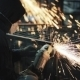 Man Working On Grinding, Many Sparks. - VideoHive Item for Sale