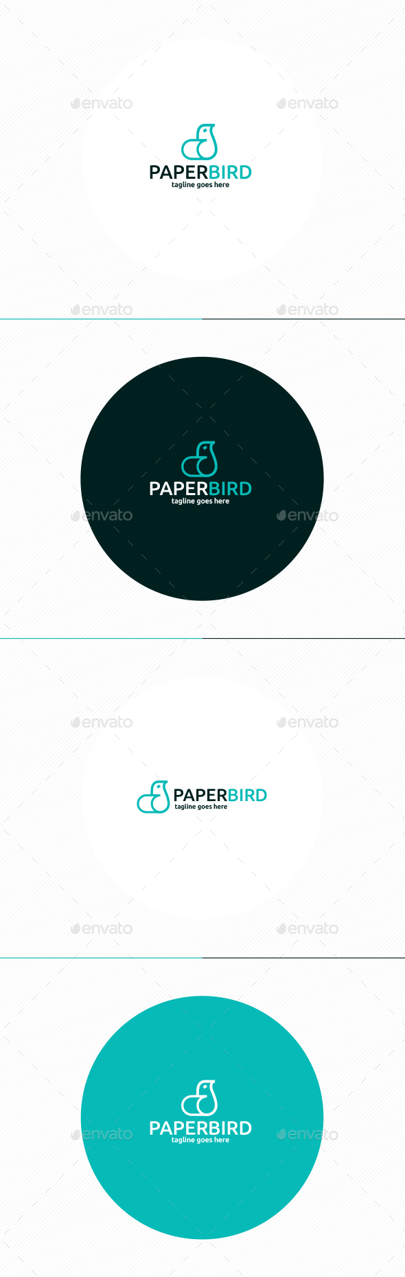 Paper Bird Logo - Symbols Logo Templates