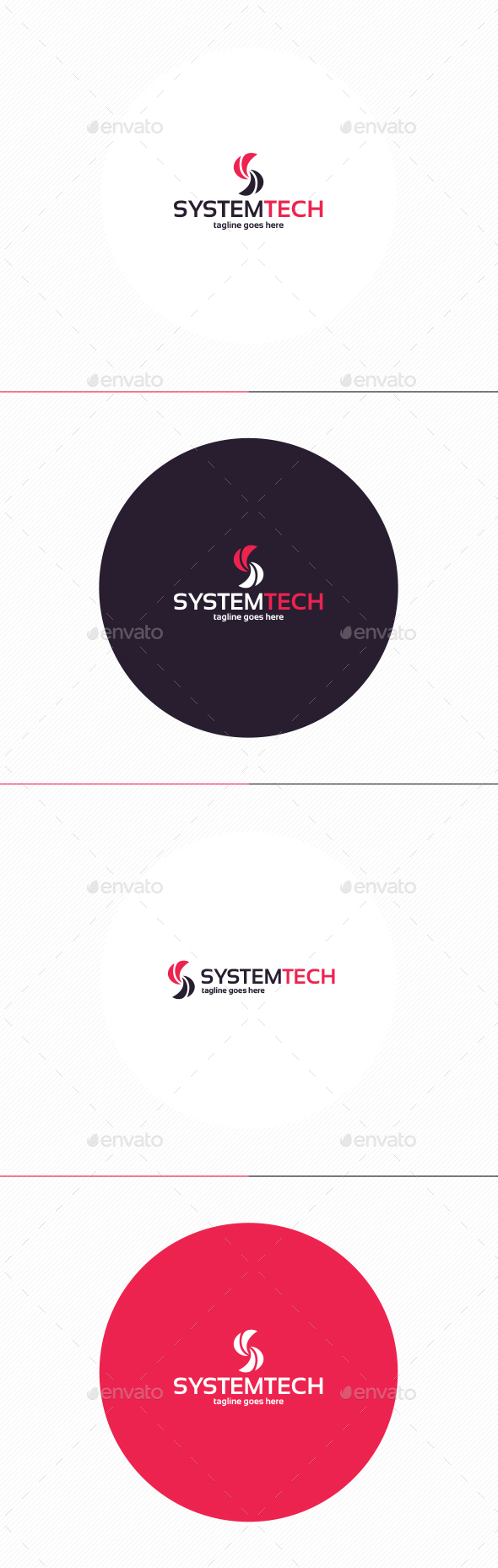 System Tech Logo • Letter S - Letters Logo Templates