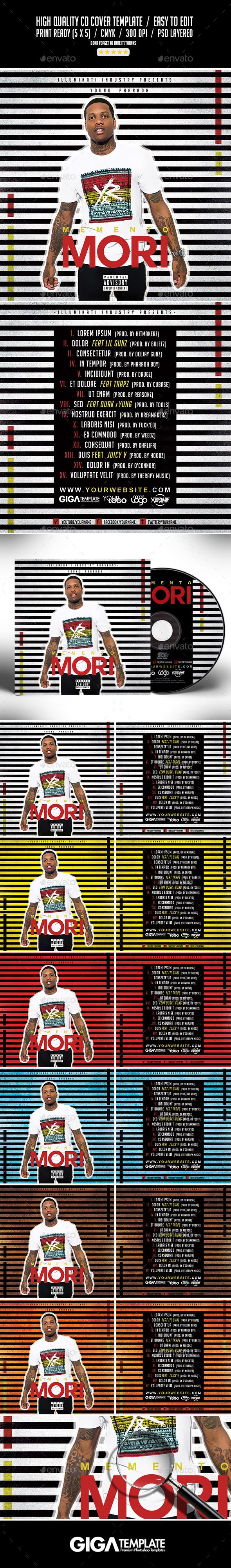 Memento Mori | Mixtape Album CD Cover Template - CD & DVD Artwork Print Templates