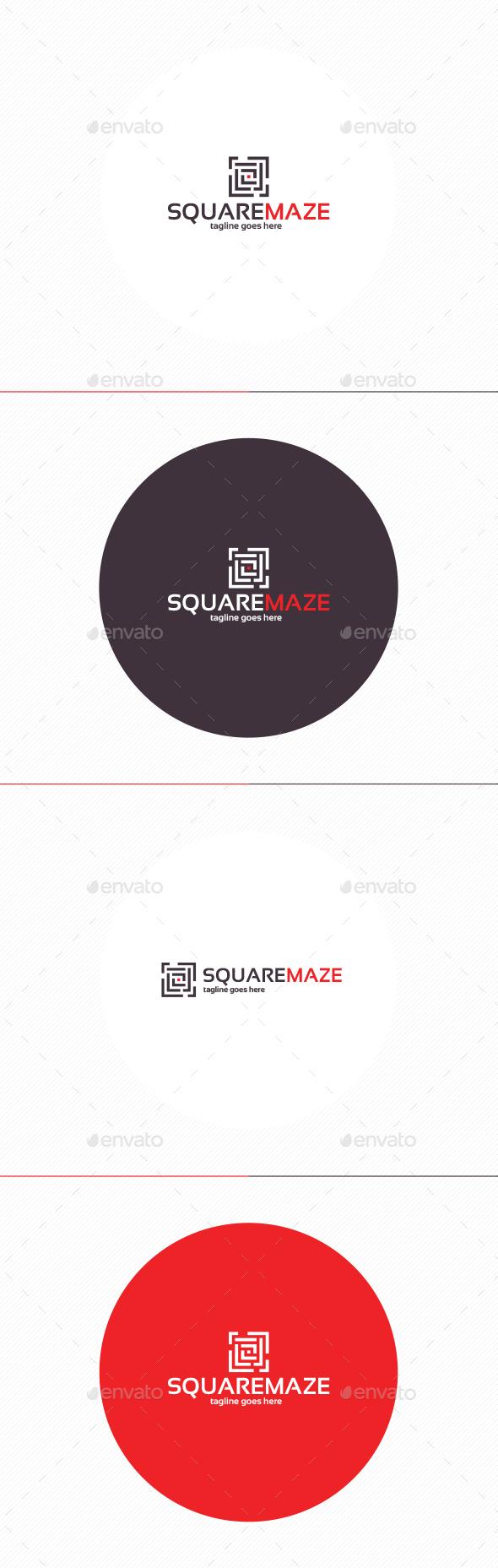 Square Maze Logo - Objects Logo Templates