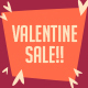 Valentine Sale Postcard - GraphicRiver Item for Sale
