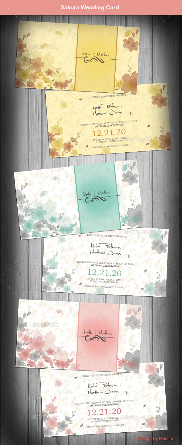 Sakura Wedding Card - Weddings Cards & Invites