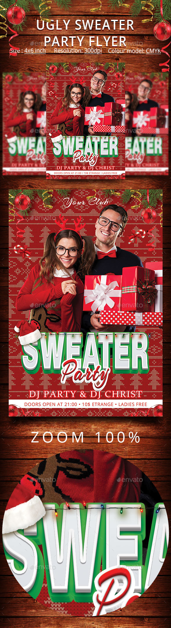 Ugly Sweater Party Flyer - Events Flyers