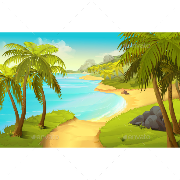 Tropical Beach - Vectors
