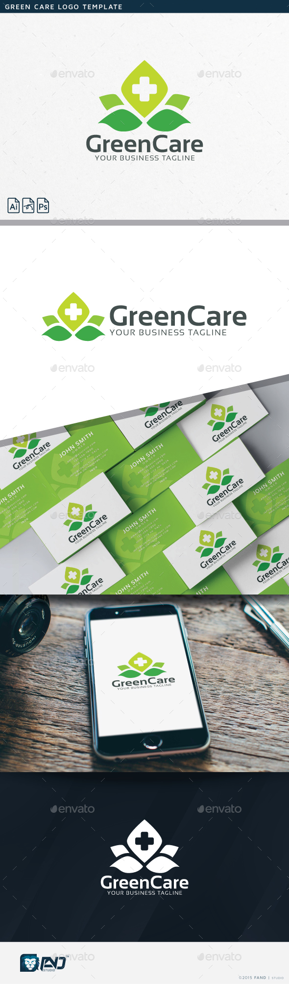 Green Care - Nature Logo Templates