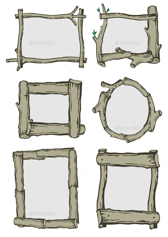 Frames Of Branches - Backgrounds Decorative
