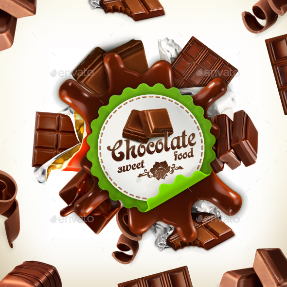 Chocolate Label - Vectors