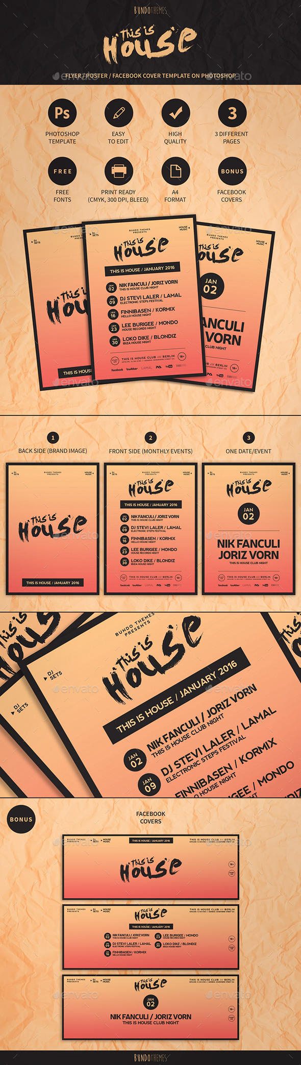 This Is House Flyer/Poster and Event Cover - Events Flyers