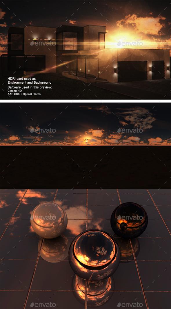 Sunset Desert 41 - 3DOcean Item for Sale