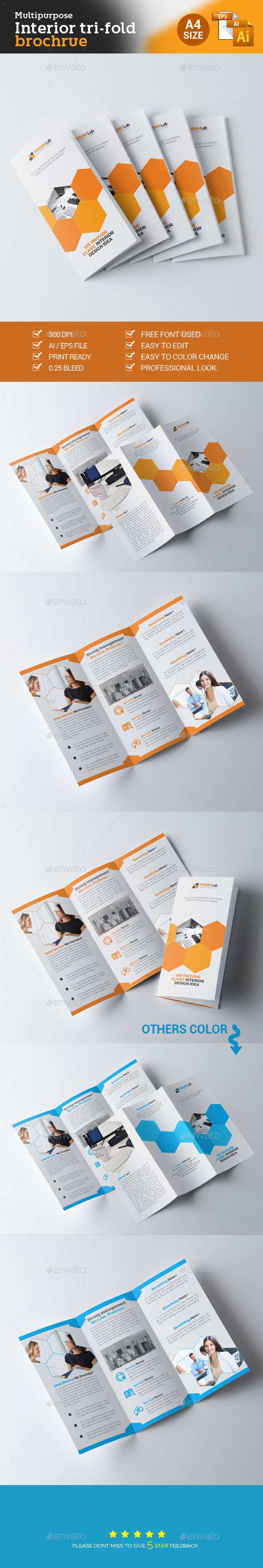 Trifold Corporate Business Brochure  - Brochures Print Templates