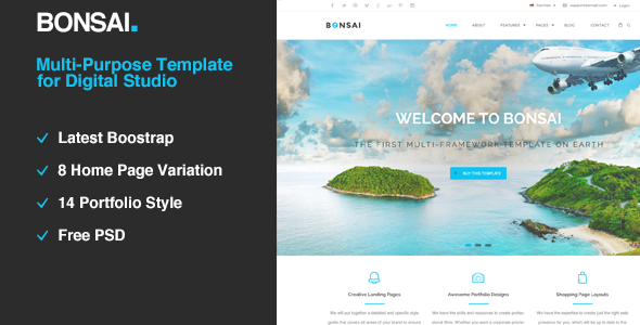 Bonsai | Multi-purpose HTML5 Template for Digital