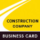 Construction Company - Business Card - GraphicRiver Item for Sale