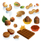 Set of nuts and chocolate sweets - GraphicRiver Item for Sale