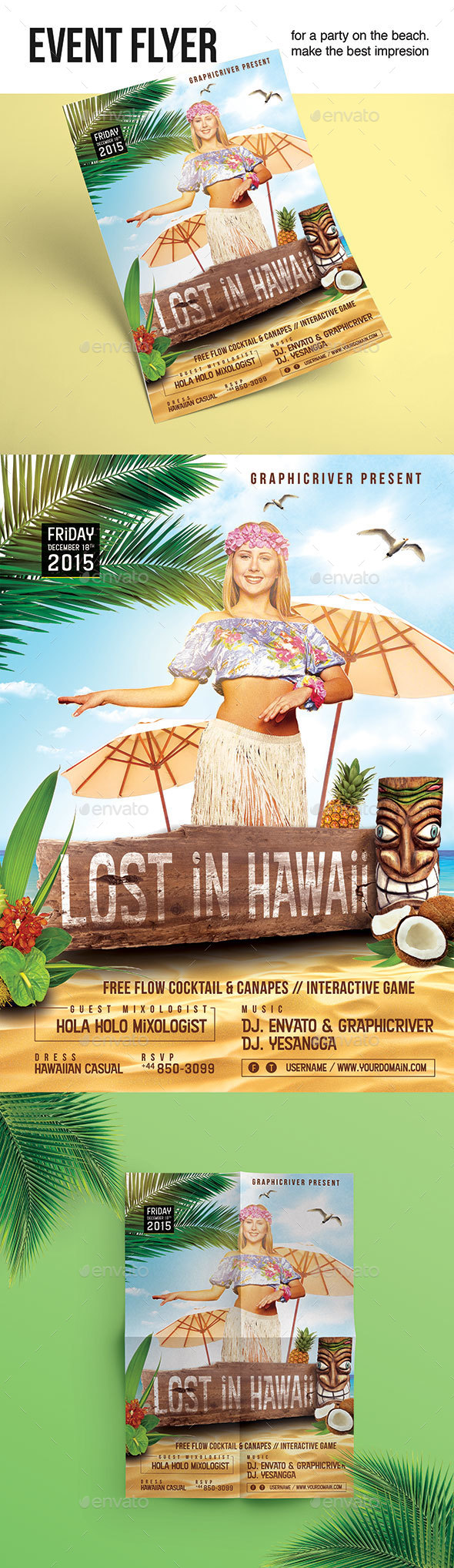 Flyer Lost In Hawaii - Clubs & Parties Events