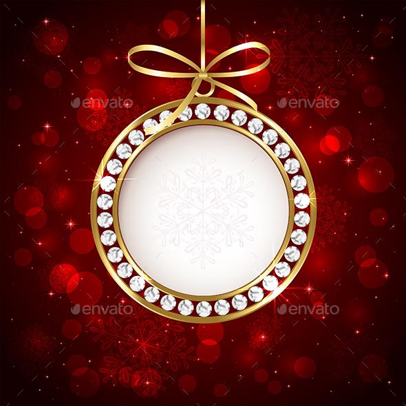 Christmas Ball with Diamond - Christmas Seasons/Holidays