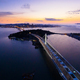 Aerial view of San Francisco Oakland Bay Bridge at sunset - PhotoDune Item for Sale