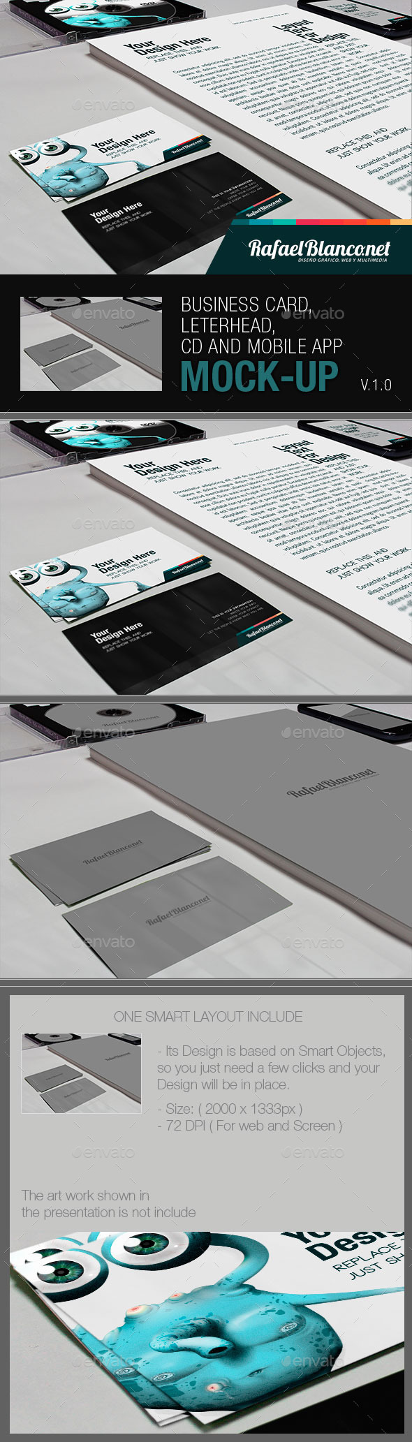 Business Card, Letterhead CD and App Mock-Up - Miscellaneous Displays
