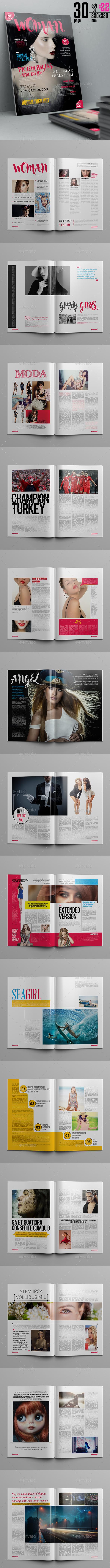 Woman Magazine Template - Magazines Print Templates