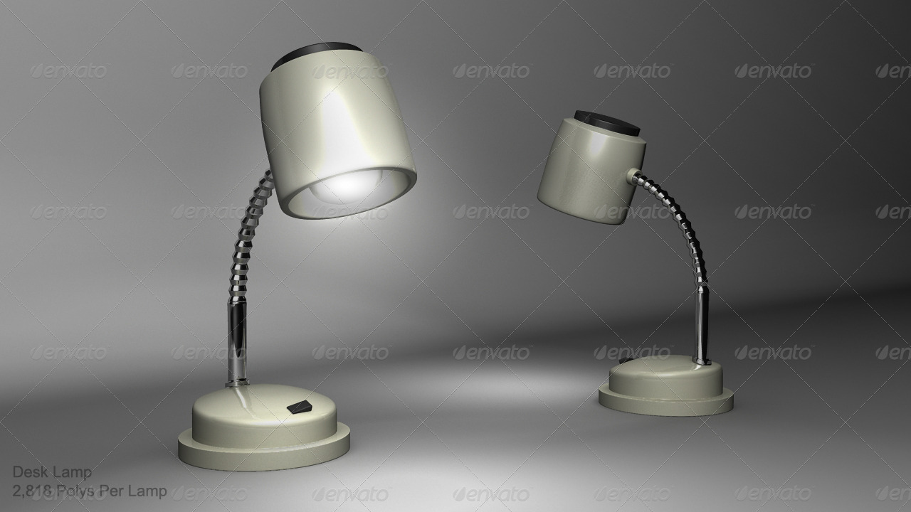 Desk Lamp - 3DOcean Item for Sale