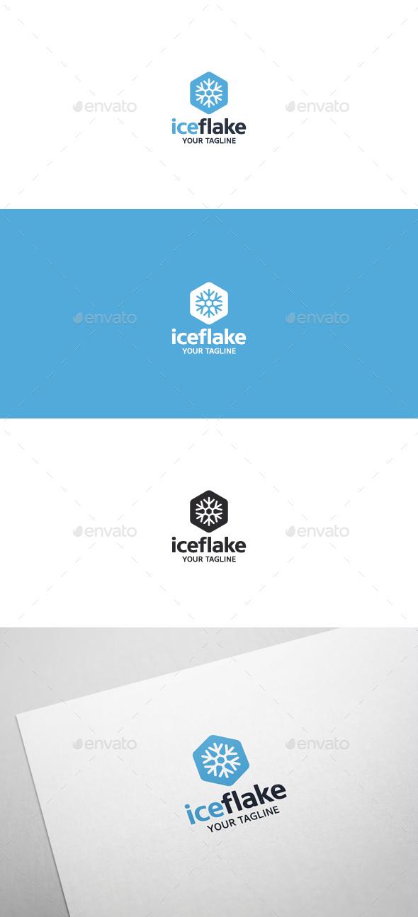 Ice Flake - Logo Template - Symbols Logo Templates