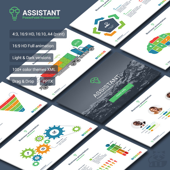 Assistant - Business PowerPoint Templates