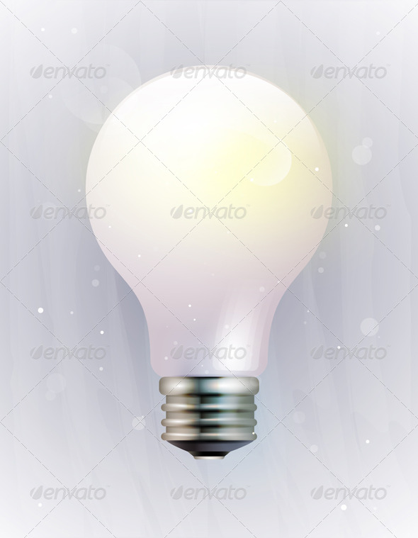 Vector icon of an electric light bulb - Man-made Objects Objects