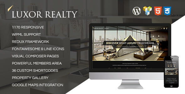 LUXOR – Responsive WordPress Real Estate Theme
