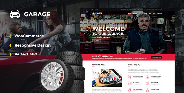 Automotive WordPress Theme - Garage - Business Corporate
