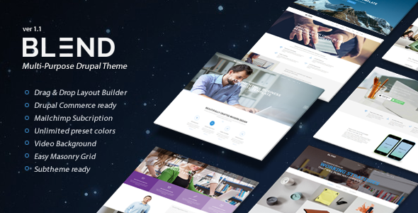 Blend - Multi-Purpose eCommerce Drupal Theme - Corporate Drupal