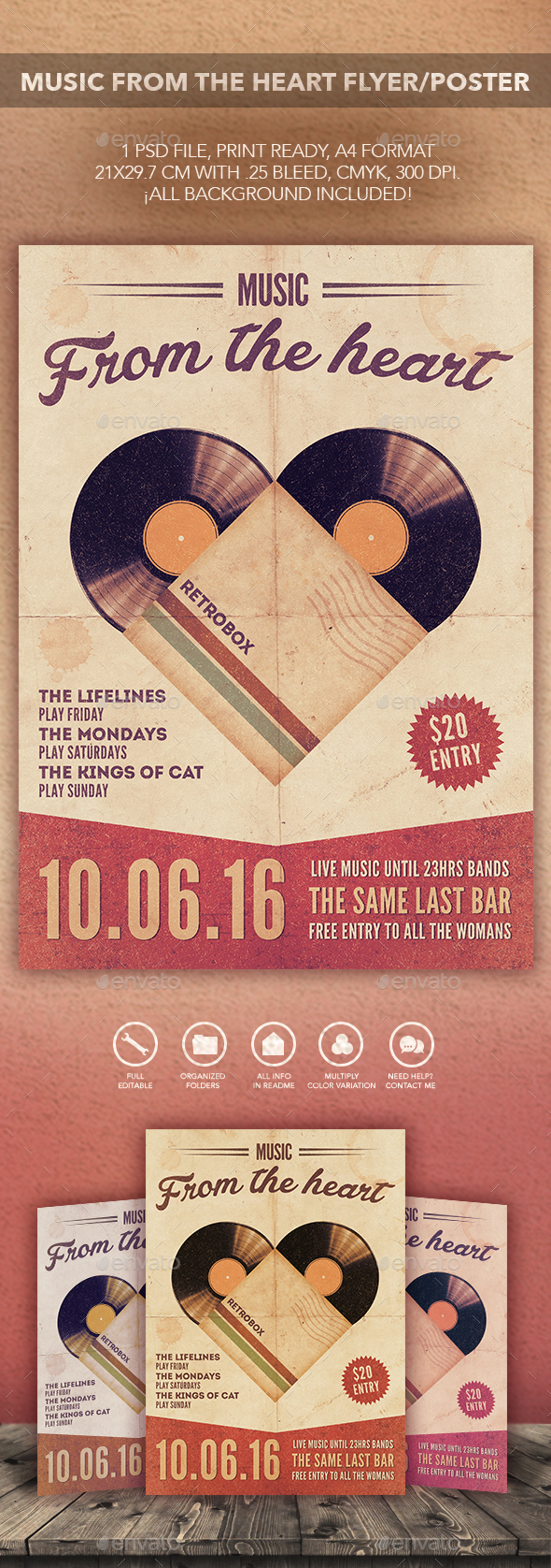 Music From The Heart Flyer Poster  - Events Flyers