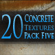 20 Concrete Textures - Pack Five - GraphicRiver Item for Sale