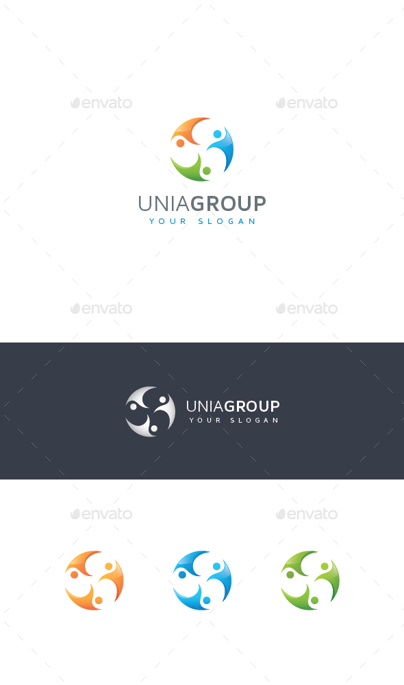 Abstract United People Logo - Vector Abstract