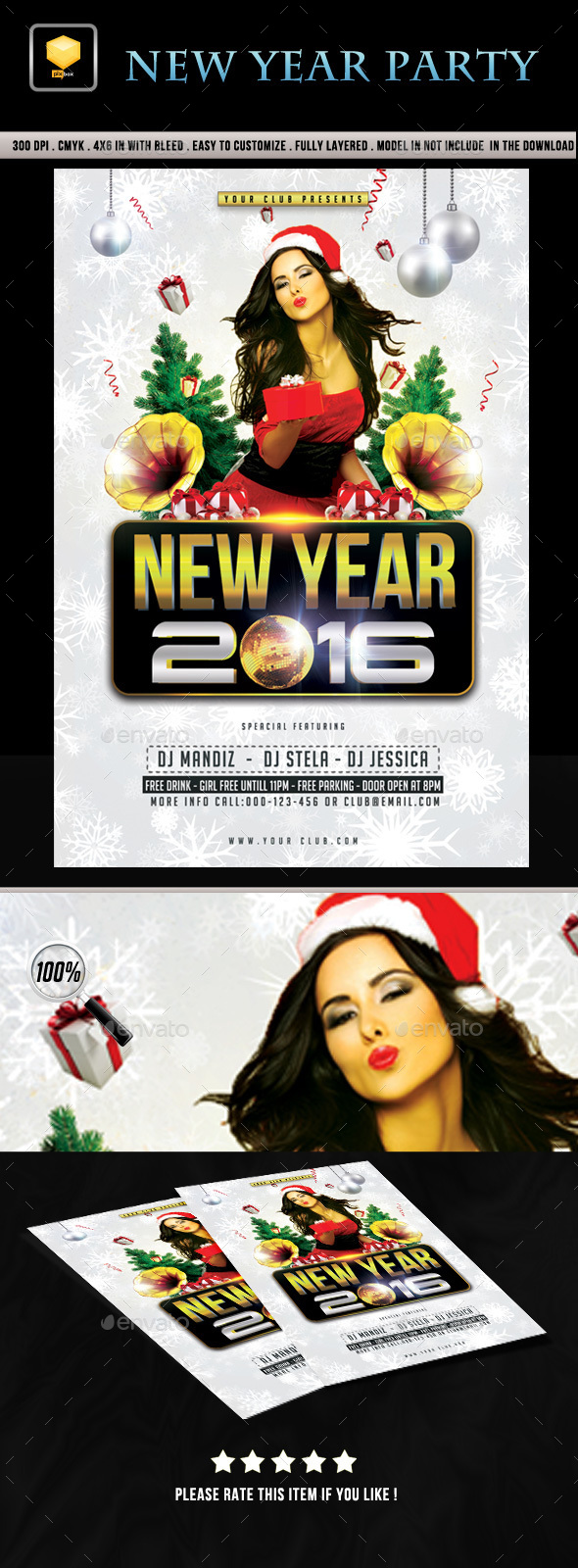 New Year Event Flyer - Clubs & Parties Events