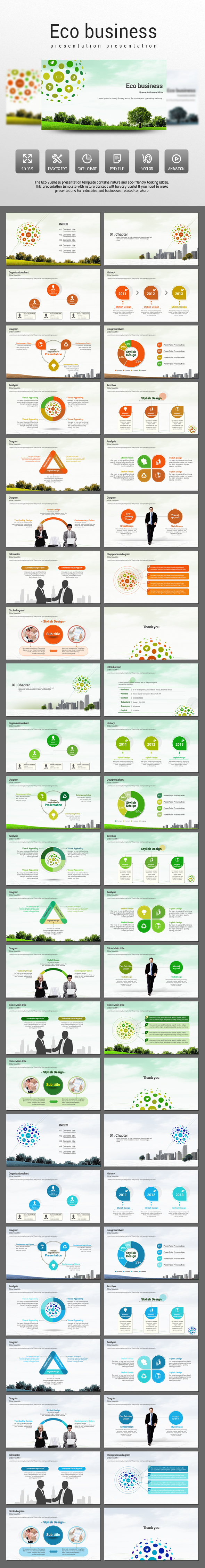 Eco Business - PowerPoint Templates Presentation Templates