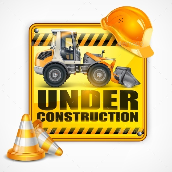Under Construction Sign Square - Miscellaneous Vectors